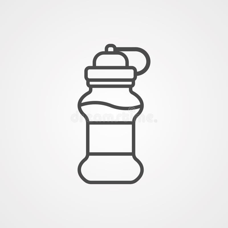 Symbol ikony wektora butelki z wodą ilustracji
