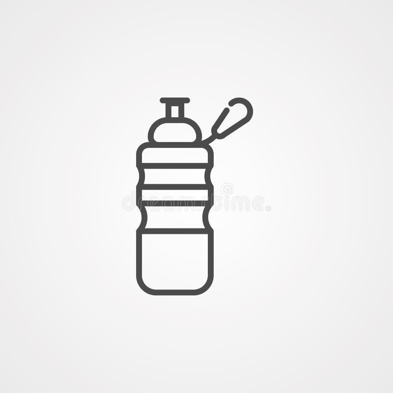 Symbol ikony wektora butelki z wodą ilustracja wektor
