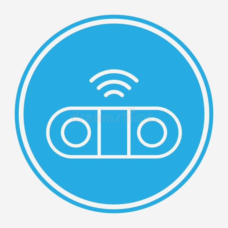 Symbol ikony wektora głośnika sieci bezprzewodowej ilustracji