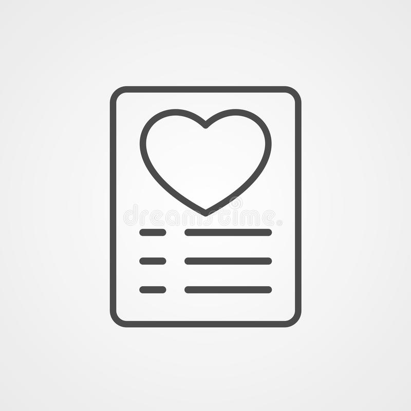 Symbol ikony wektora listy życzeń ilustracja wektor