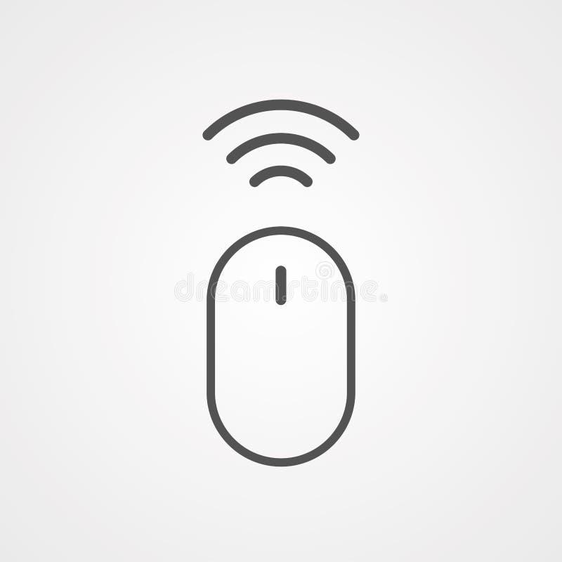Symbol ikony wektora myszy bezprzewodowej royalty ilustracja