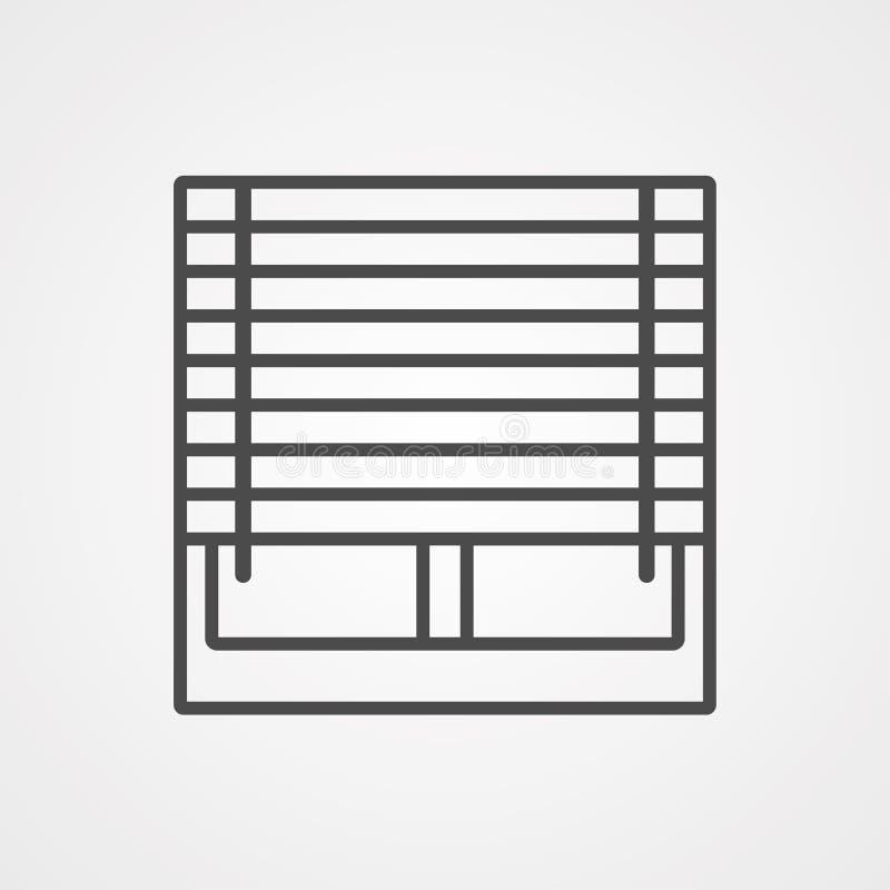 Symbol ikony wektora okna royalty ilustracja