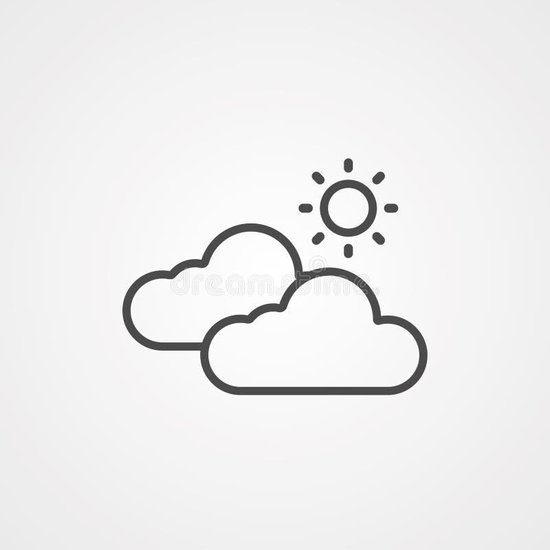 Symbol ikony wektora pogody royalty ilustracja