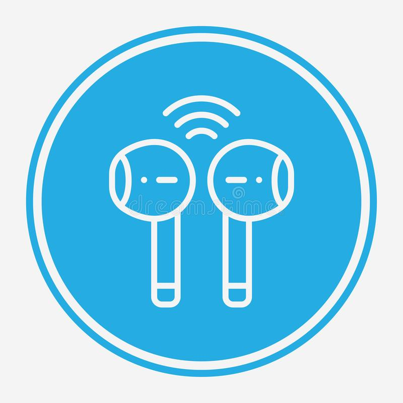 Symbol ikony wektora słuchawkowego sieci bezprzewodowej ilustracji