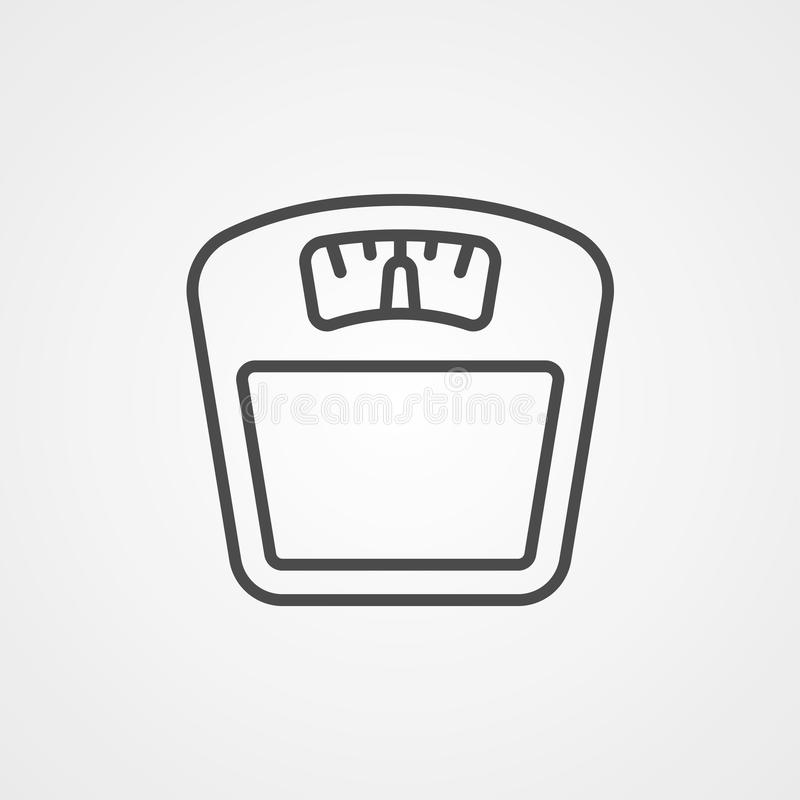 Symbol ikony wektora skali wagi ilustracja wektor