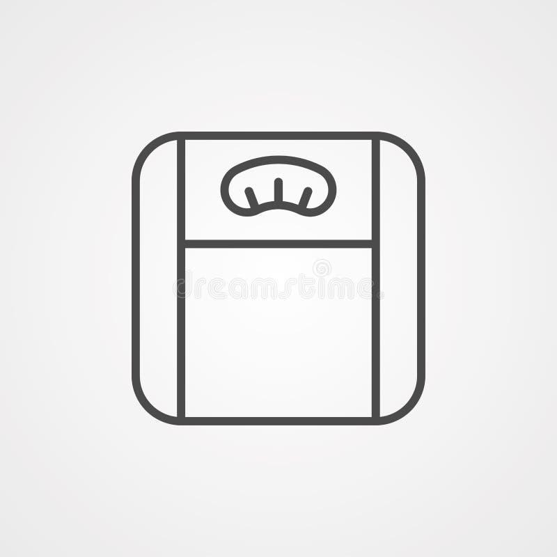 Symbol ikony wektora skali wagi ilustracji
