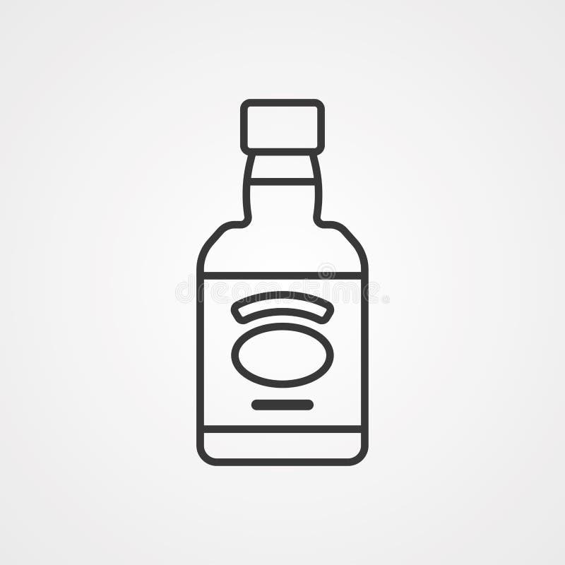 Symbol ikony wektora whisky royalty ilustracja