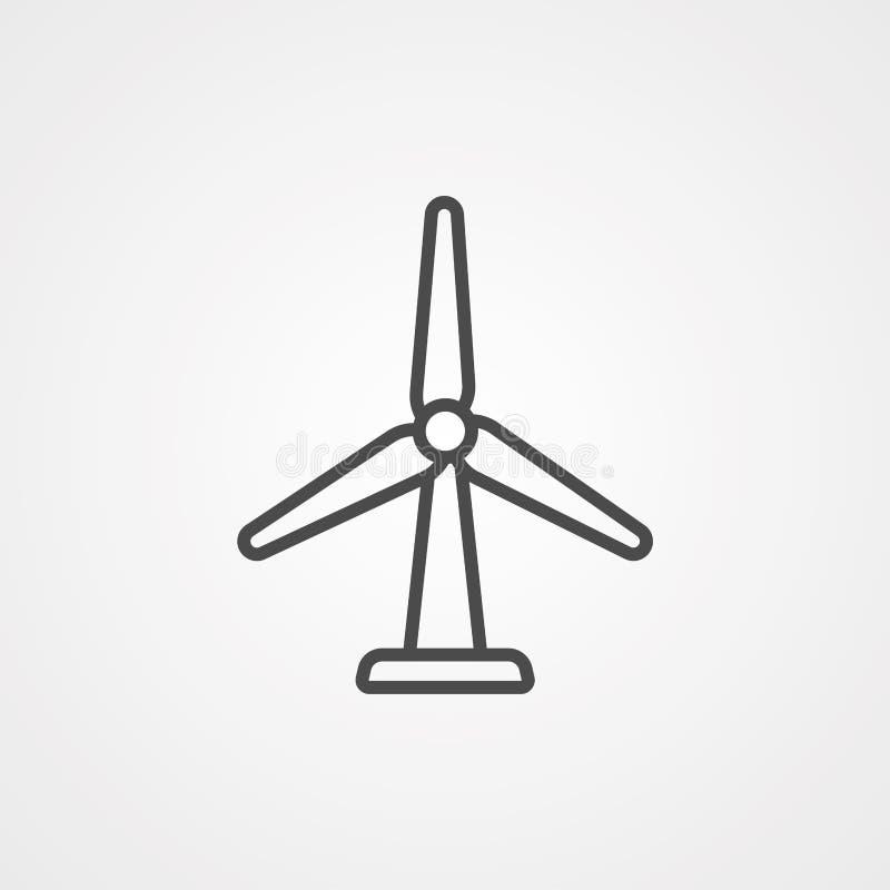 Symbol ikony wektora wiatru royalty ilustracja