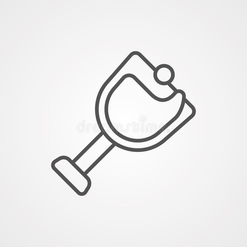 Symbol ikony wektora wina royalty ilustracja