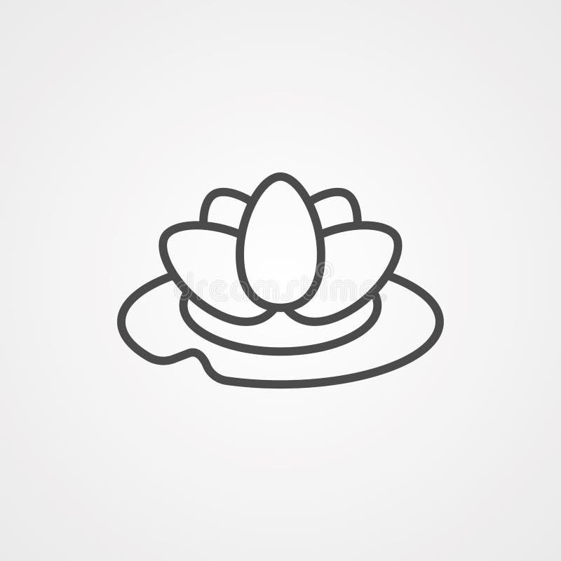 Symbol ikony wektora wodnego royalty ilustracja