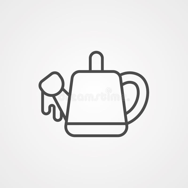 Symbol ikony wektorowej Watercan ilustracja wektor