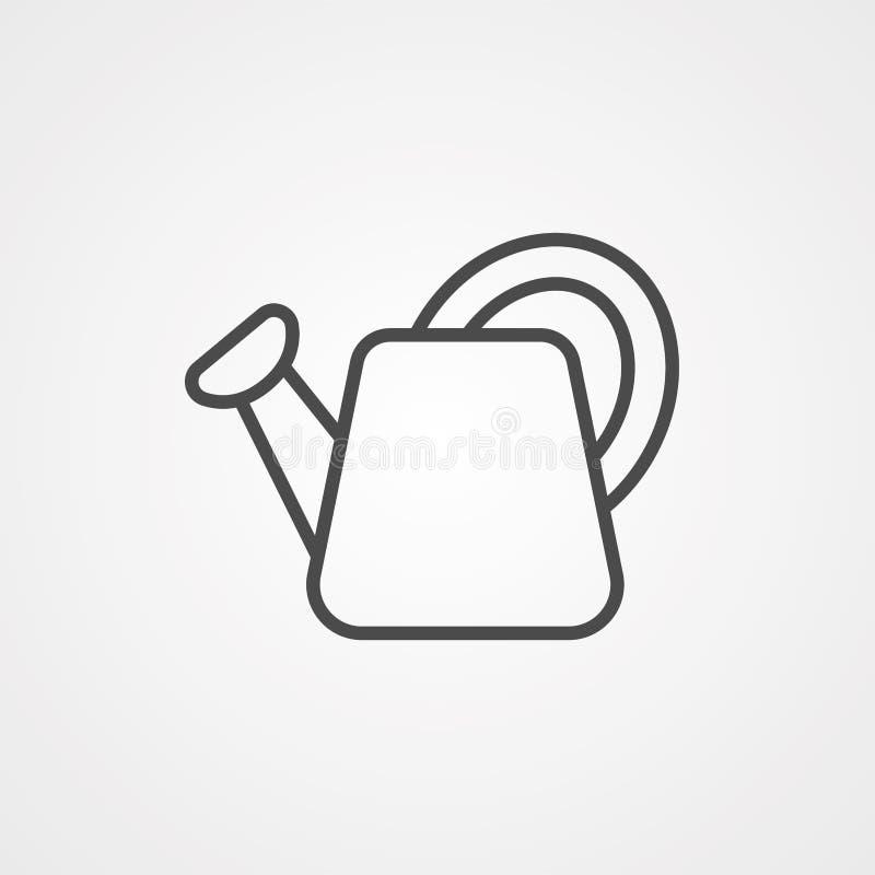Symbol ikony 'Woda może' royalty ilustracja