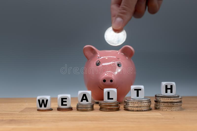 Symbol for increasing wealth. royalty free stock photography