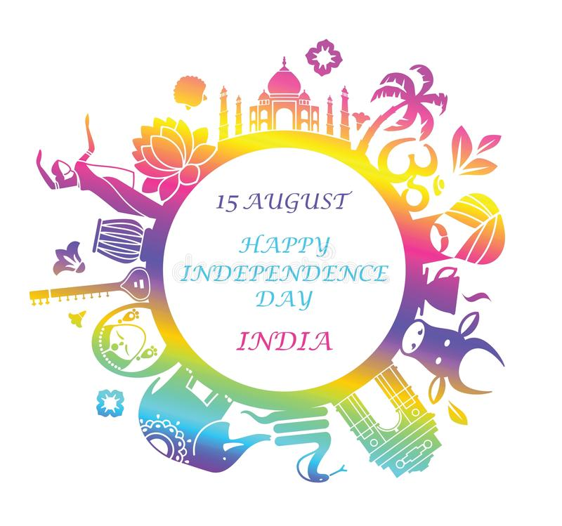 Symbol Of Independence Day Of India Stock Vector Illustration Of