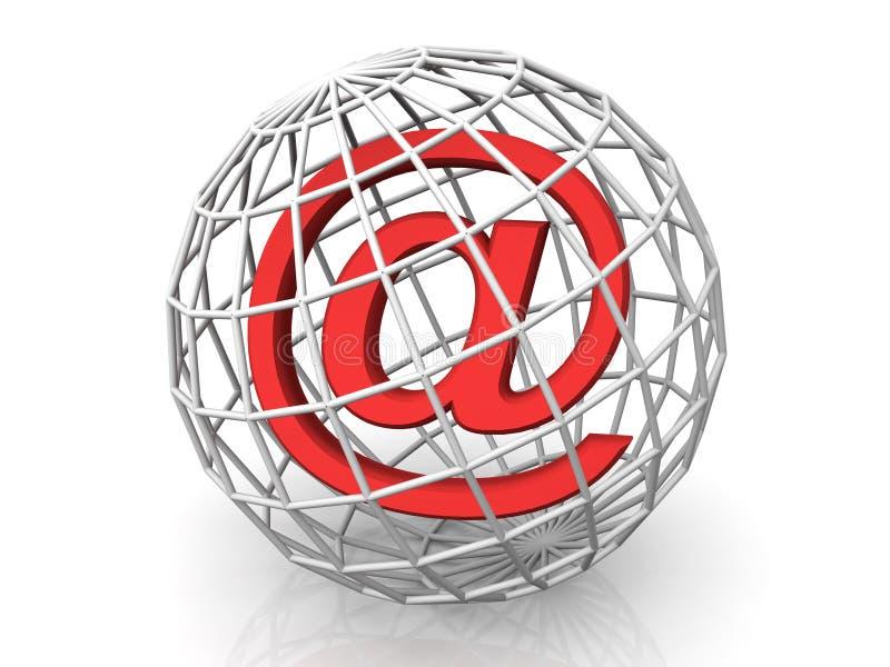 Symbol for internet. Very beautiful three-dimensional illustration, figure.symbol for internet. 3d royalty free illustration