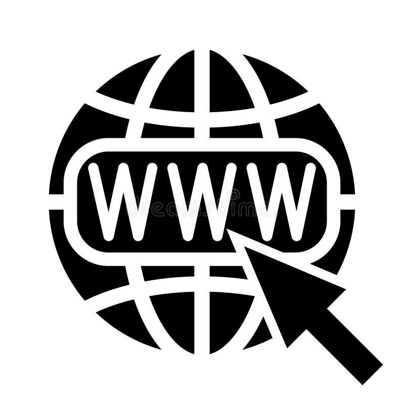 Symbol of the Internet, globe and cursor. Vector illustration stock illustration