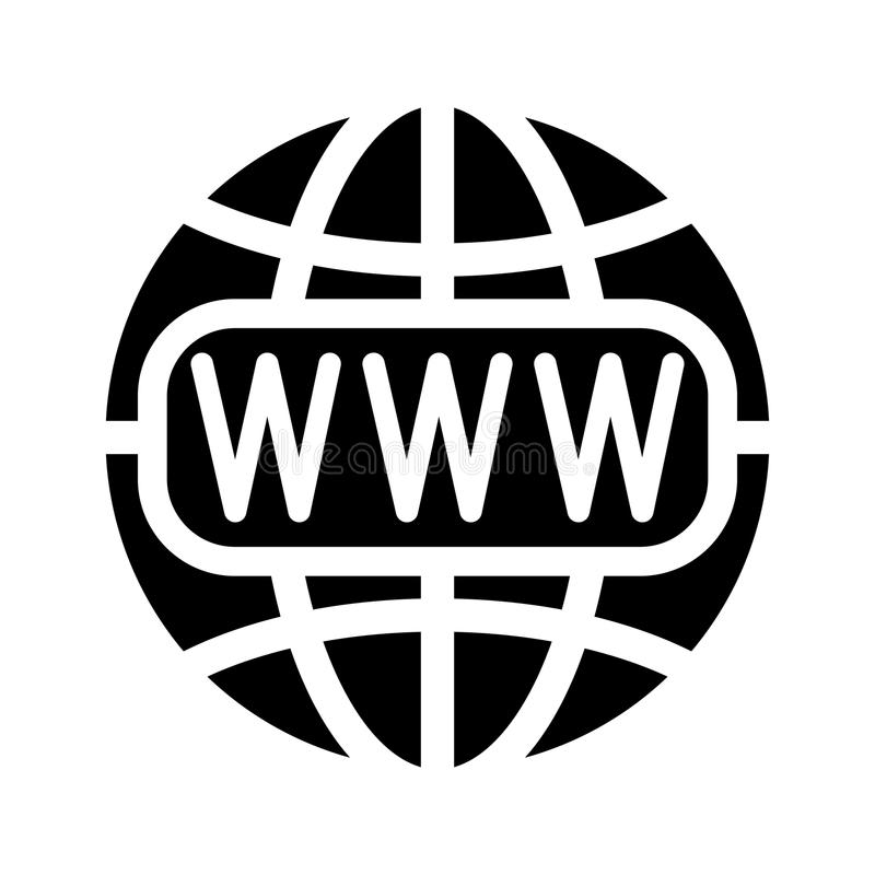 Symbol of the Internet and globe. Vector illustration stock illustration