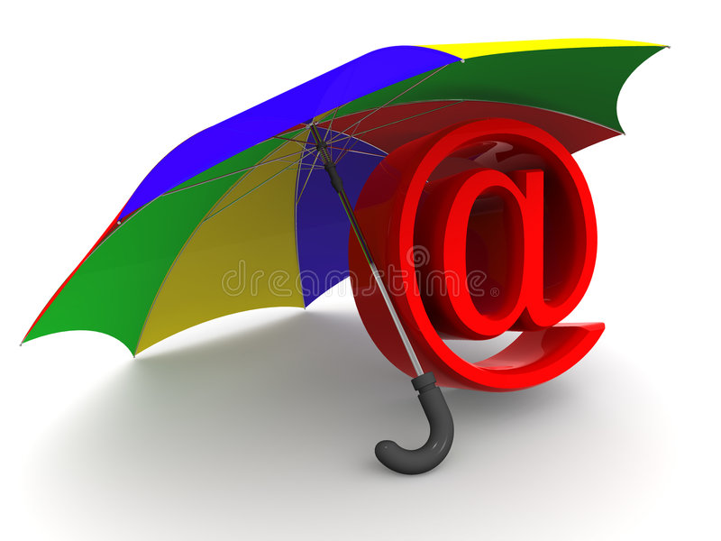 Download Symbol Of Internet. Umbrella Stock Illustration - Image: 3503750