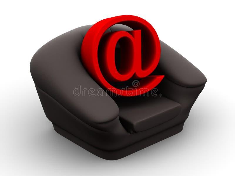 symbol internetu fotel ilustracja wektor