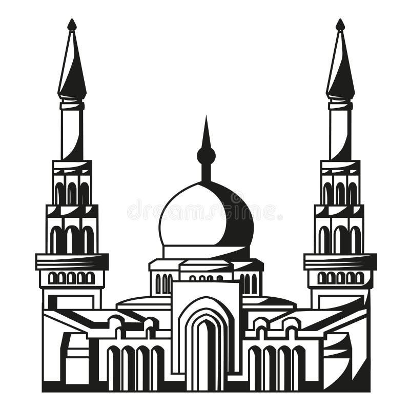 Symbol islam. Sylwetka meczet. Ramadan.