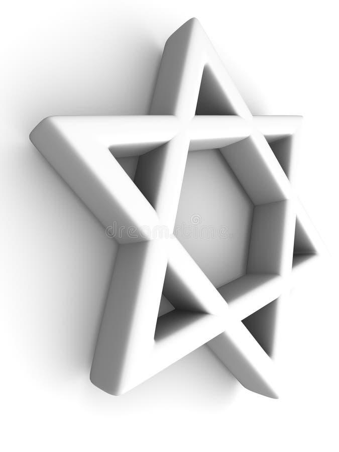 Symbol of Israel. 3d Very beautiful three-dimensional illustration royalty free illustration