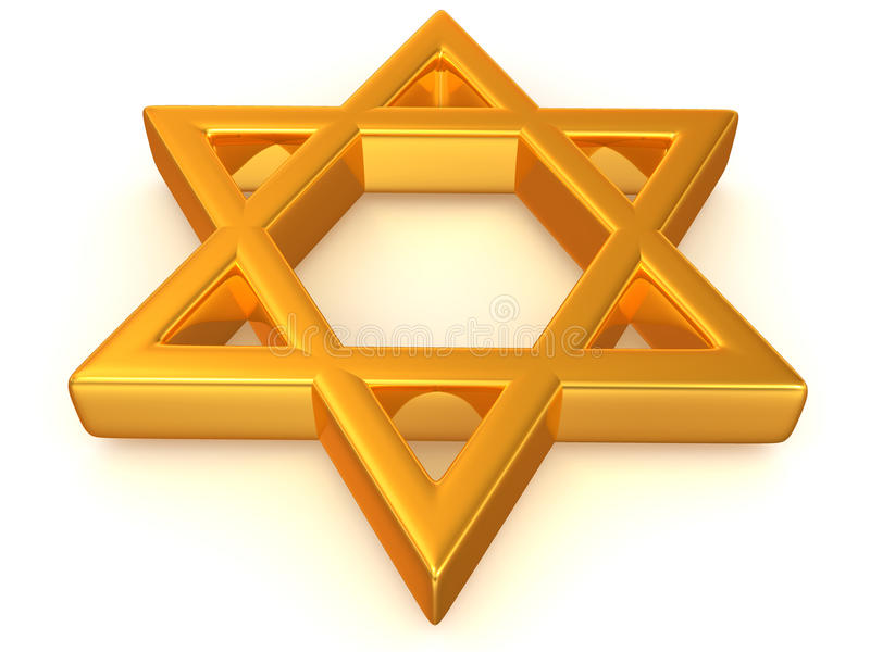 Symbol of Israel. 3d Very beautiful three-dimensional illustration vector illustration