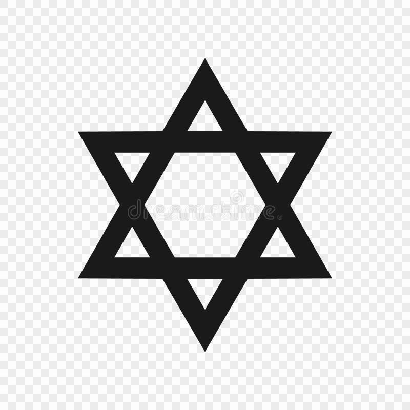 Symbol of judaism. Star of David - symbol of judaism. Vector illustration royalty free illustration
