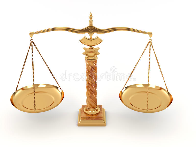 Symbol Of Justice Scale Stock Illustration Illustration Of Gold