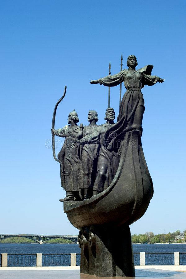 Symbol of Kiev royalty free stock photography