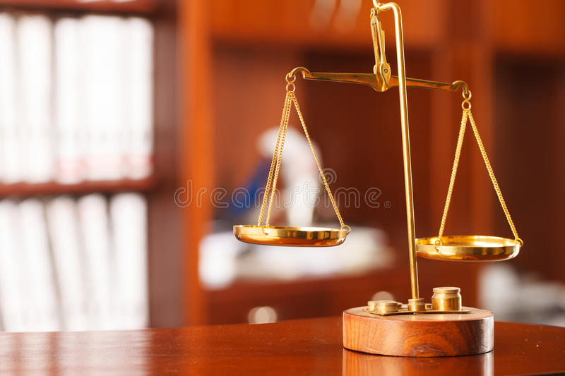 Symbol of law and justice stock photos