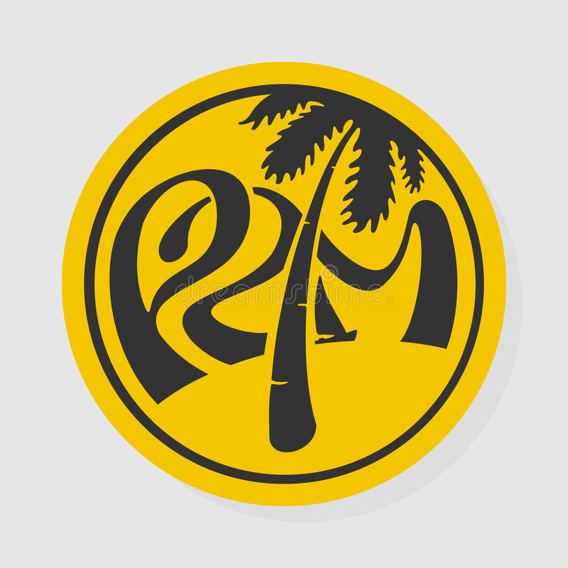 Symbol Lettering Palm royalty free stock images