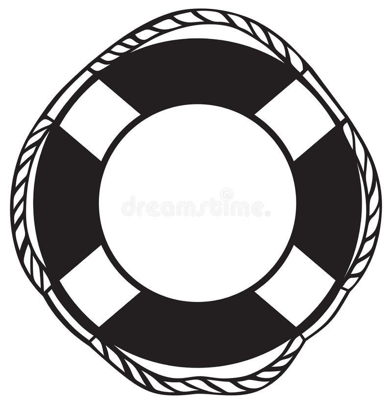 Symbol lifebuoy royalty ilustracja