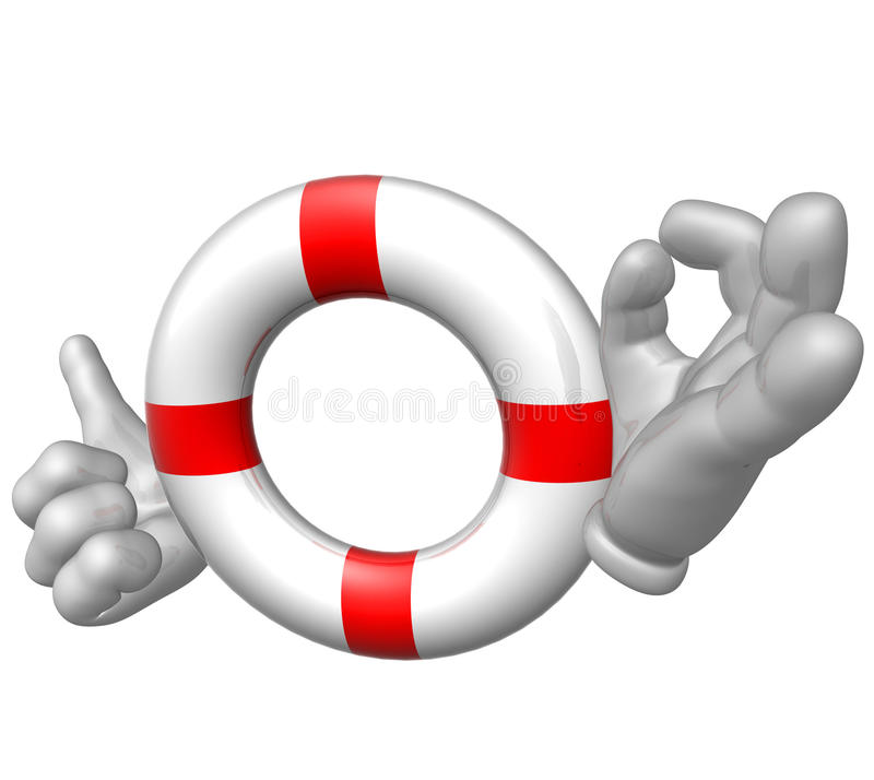 symbol lifebuoy sos stock illustrationer
