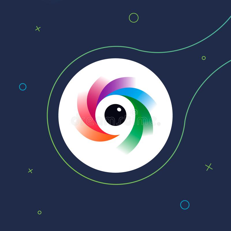 Symbol /logo för fotoredaktör Konstillustration stock illustrationer