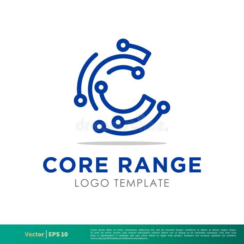 Symbol Logo Template Illustration Design för vektor för c-bokstavsteknologi Vektor EPS 10 vektor illustrationer