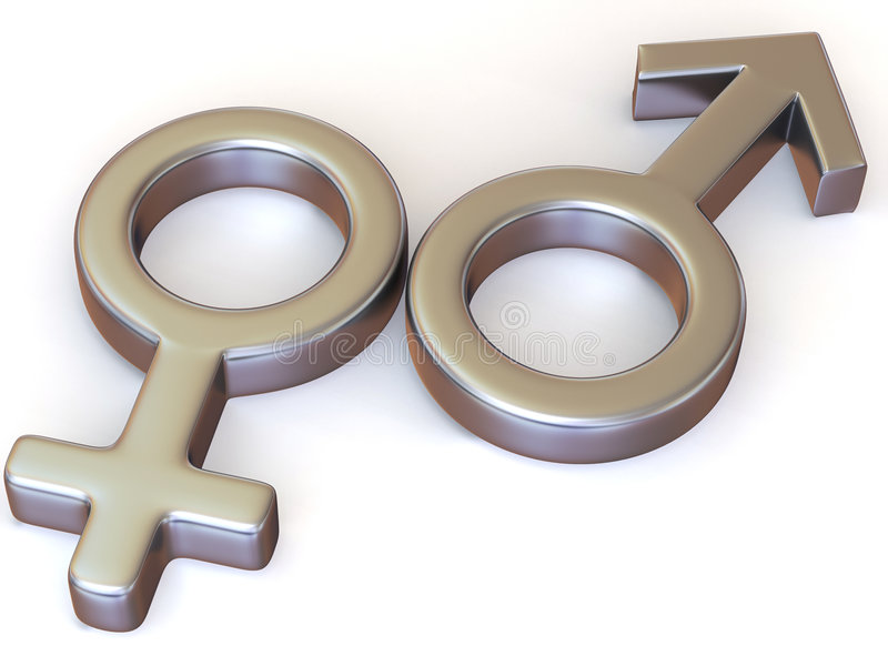 Symbol-Männer und Frauen. Liebe lizenzfreie abbildung