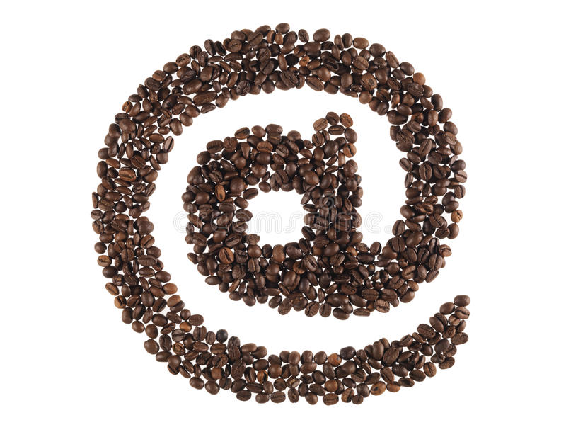 Download Symbol At Made With A Coffee Beans Stock Image - Image of cappuccino, canephora: 17629155
