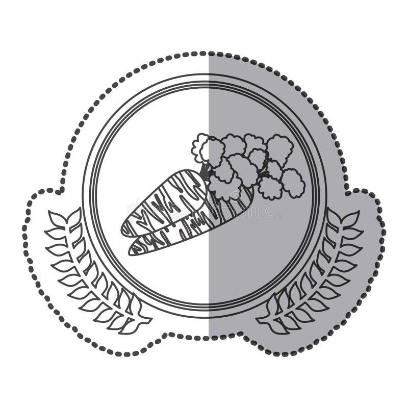 symbol marchewki sygnału ikona ilustracja wektor