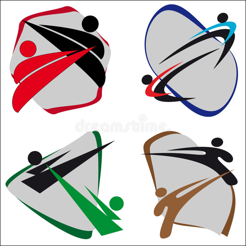 Download Symbol Martial arts stock illustration. Image of boxing - 16675579