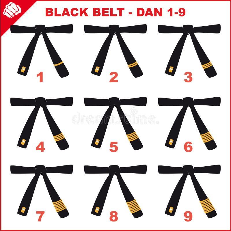 Download Symbol Martial Arts- Black Belts. Stock Illustration - Image: 16675495