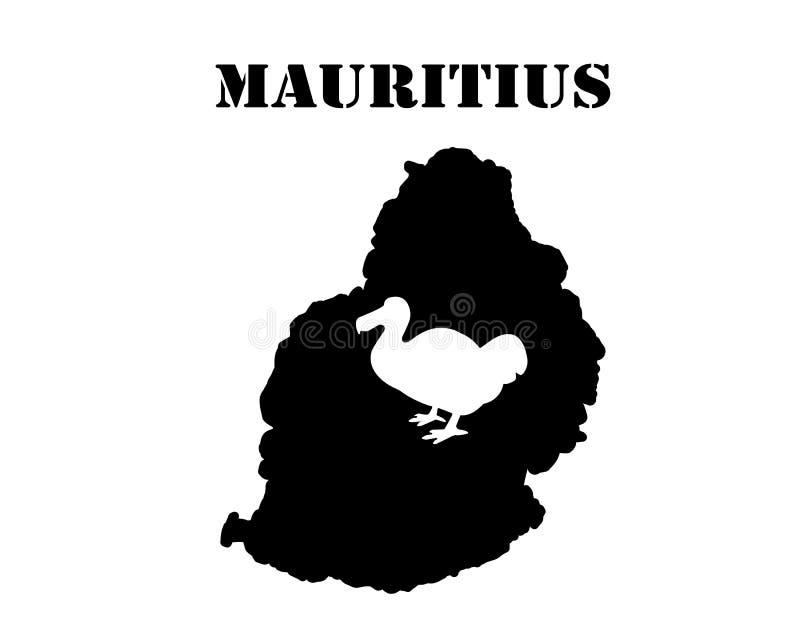 Symbol Mauritius i mapa royalty ilustracja