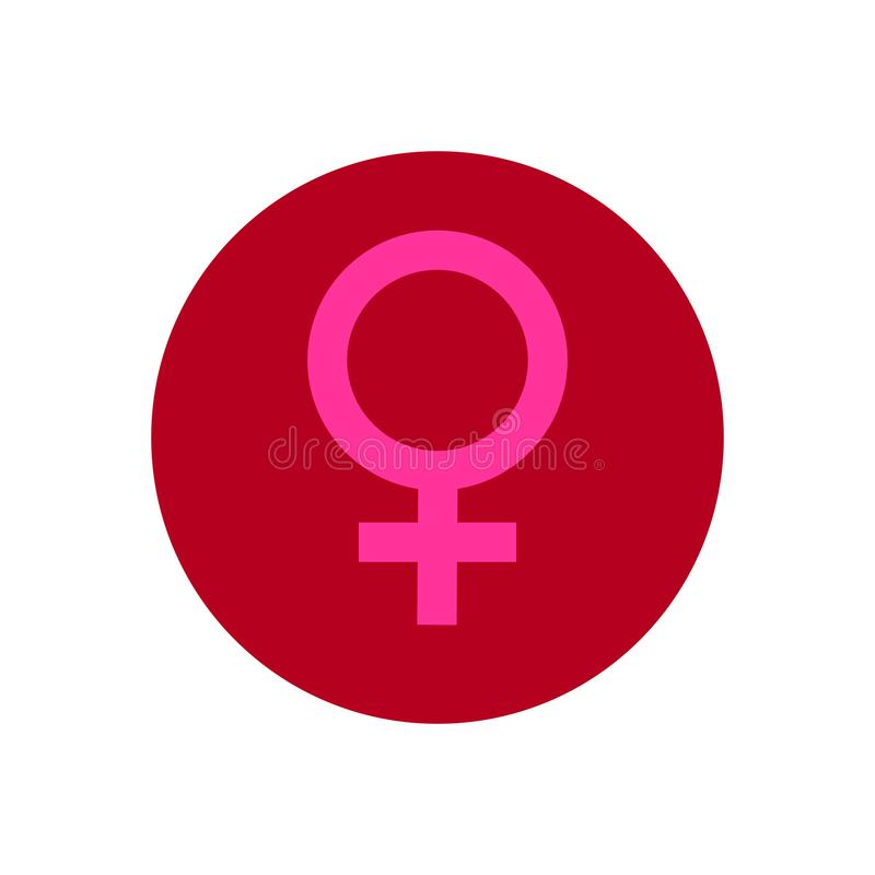 Symbol med symbol av kvinnan arkivbild