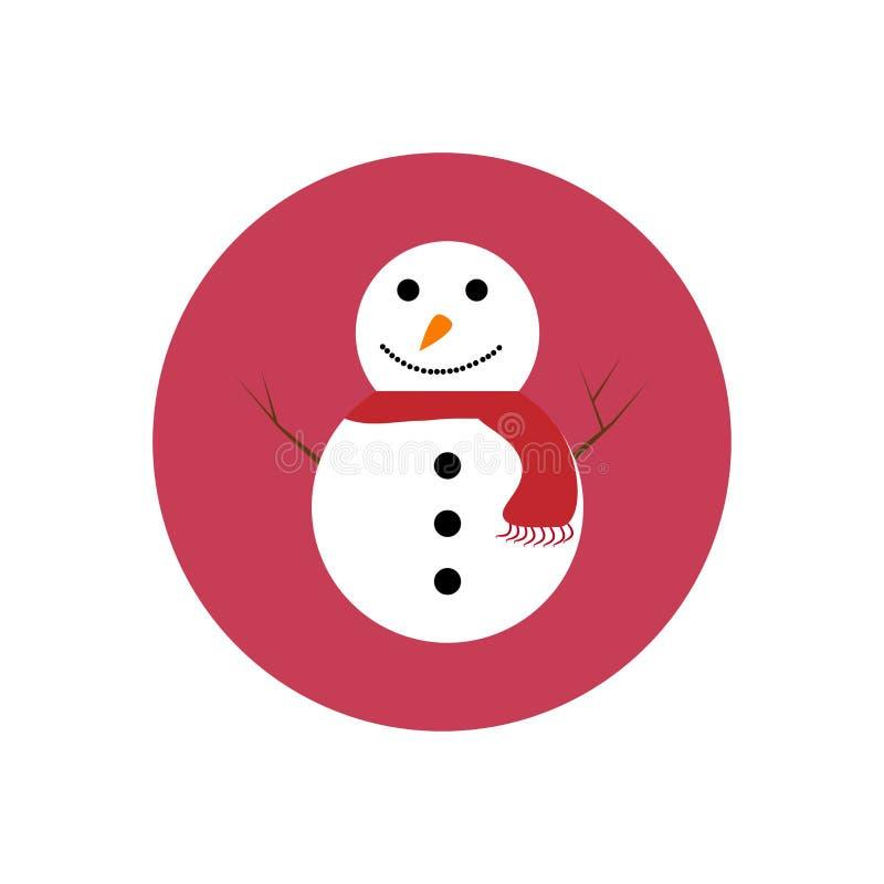 Symbol med en snögubbe arkivfoton