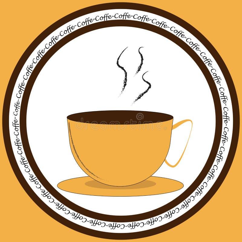 Symbol med koppen kaffe royaltyfri illustrationer