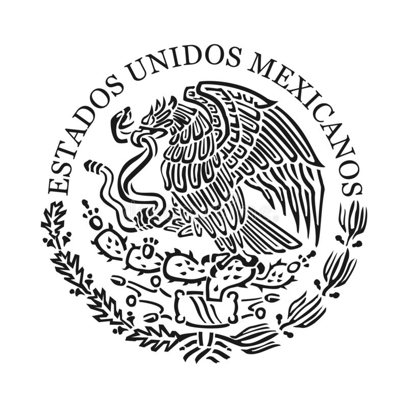 Symbol Meksyk royalty ilustracja