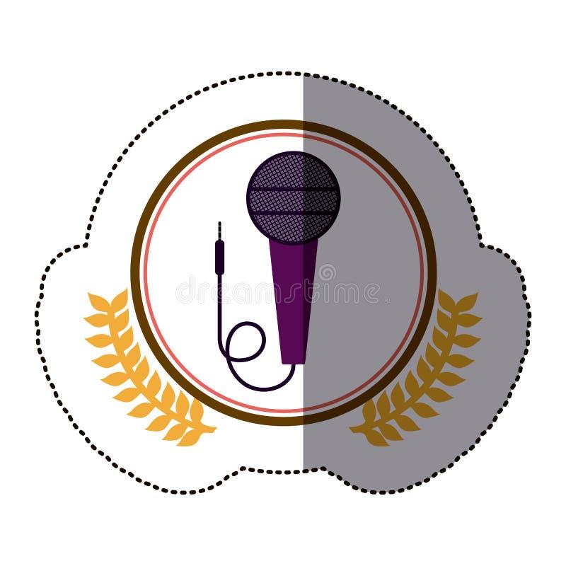 Symbol microphone icon image. Illustration design royalty free illustration