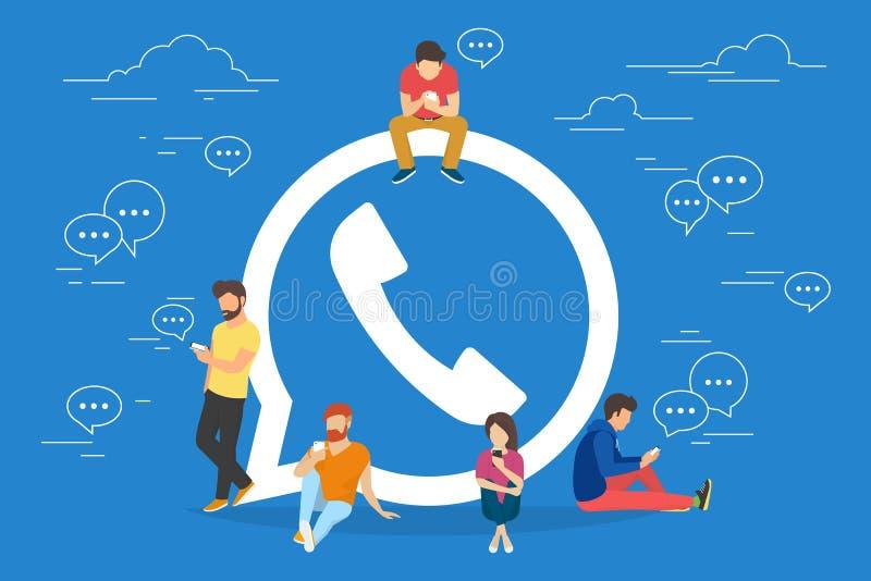 Symbol Of Mobile Messenger Concept Illustration Stock Vector