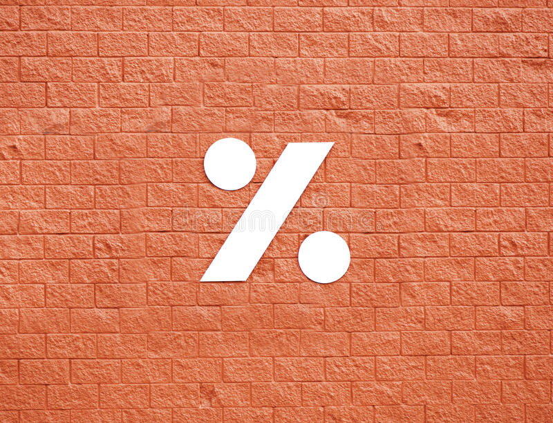 Download Symbol Na Czerwieni ścianie Obraz Royalty Free - Obraz: 28223996