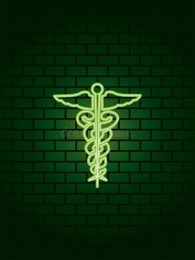 symbol neon medyczny