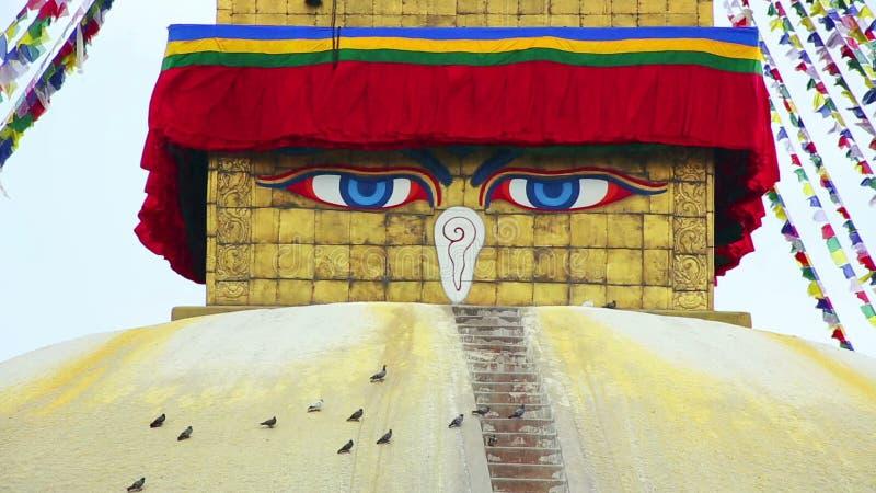 Symbol Of Nepal Buddhas Eyes In Kathmandu Stock Video Video Of